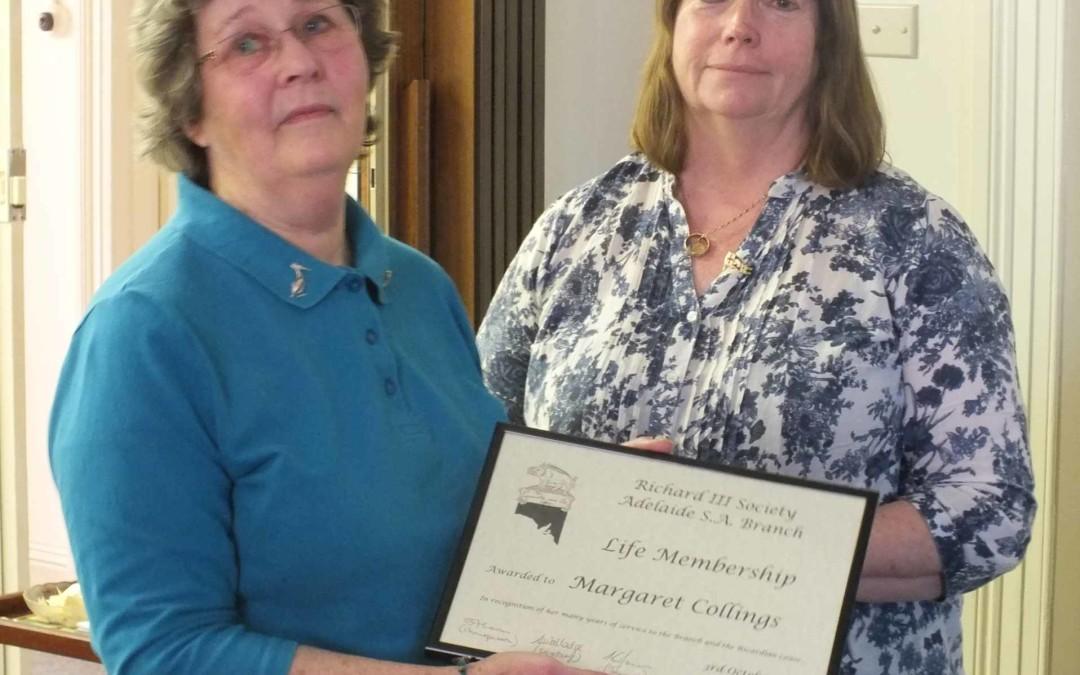 Margaret's Award 3rd Oct 2015